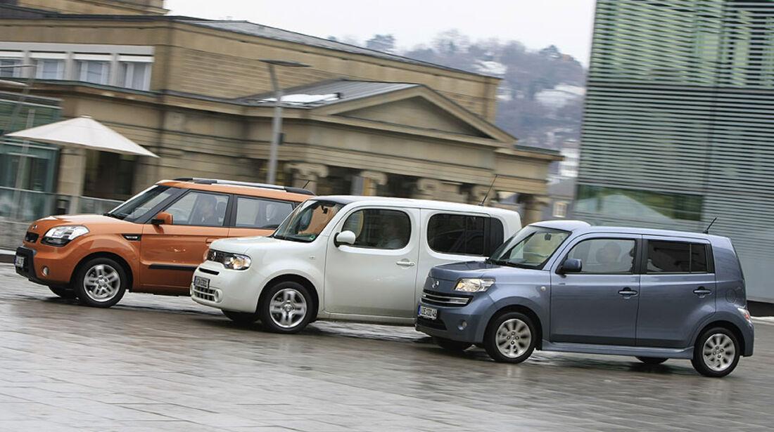 Daihatsu Materia, Kia Soul, Nissan Cube