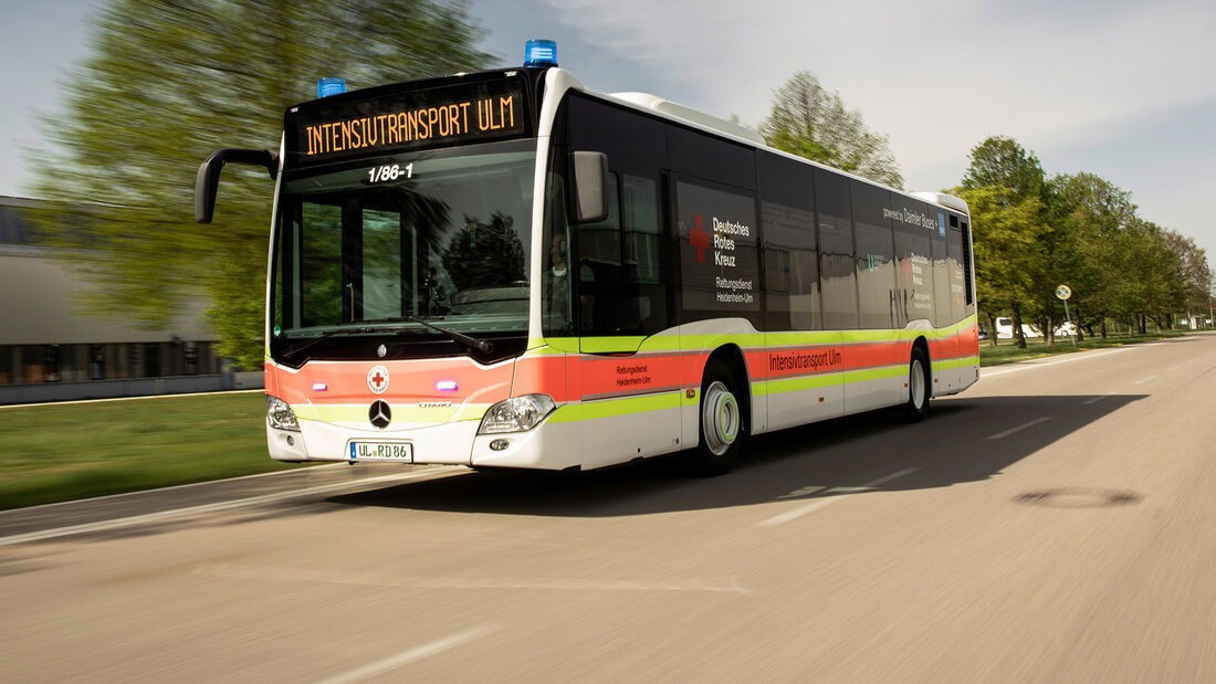 Daimler Buses baut Mercedes-Benz Citaro für den Transport von COVID-19-Patienten um  Daimler Buses converts Mercedes-Benz Citaro for transporting COVID-19 patients