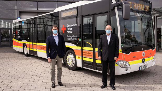 Daimler Buses baut Mercedes-Benz Citaro für den Transport von COVID-19-Patienten um  Daimler Buses converts Mercedes-Benz Citaro for transporting COVID-19 patients