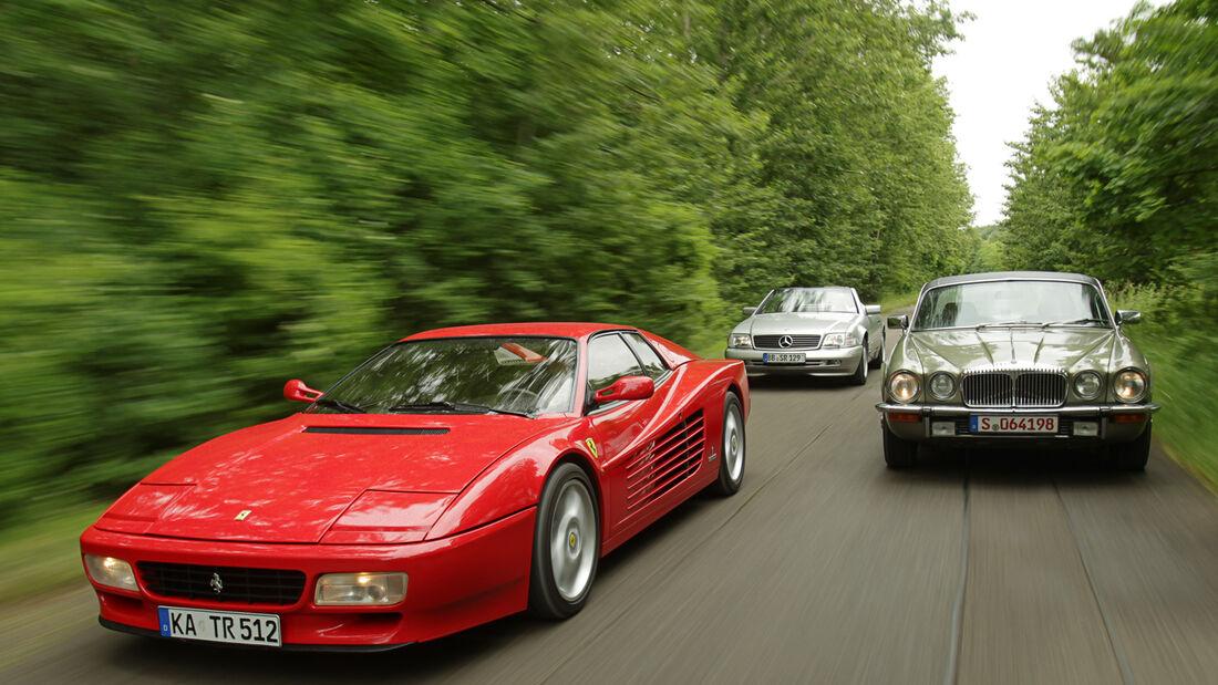 Daimler Double Six, Ferrari 512 TR, Mercedes SL 600