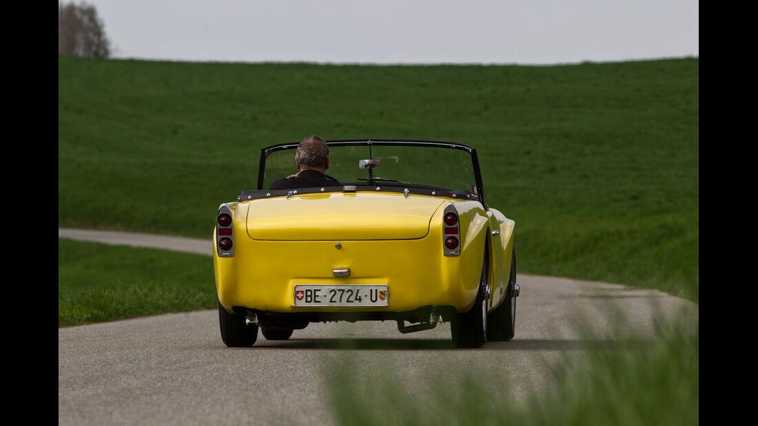 Daimler SP 250, Heckansicht