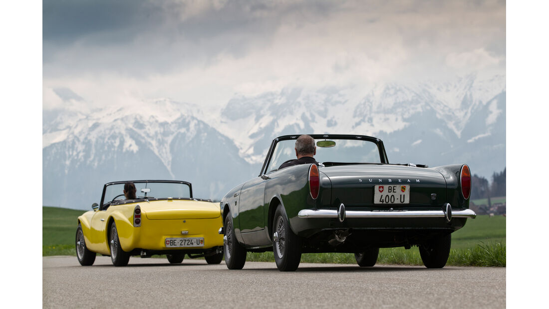Daimler SP 250, Sunbeam Alpine, Heckansicht