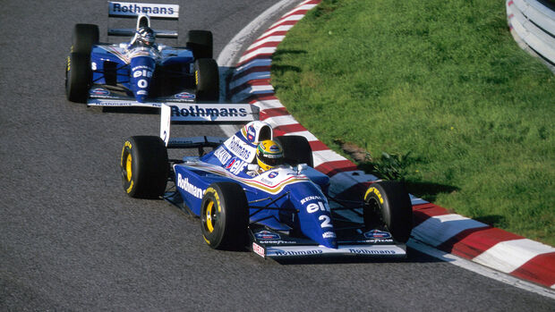 Damon Hill & Ayrton Senna - Williams - F1-Test Estoril - 1994