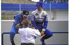 Damon Hill Michael Schumacher Bernie Ecclestone