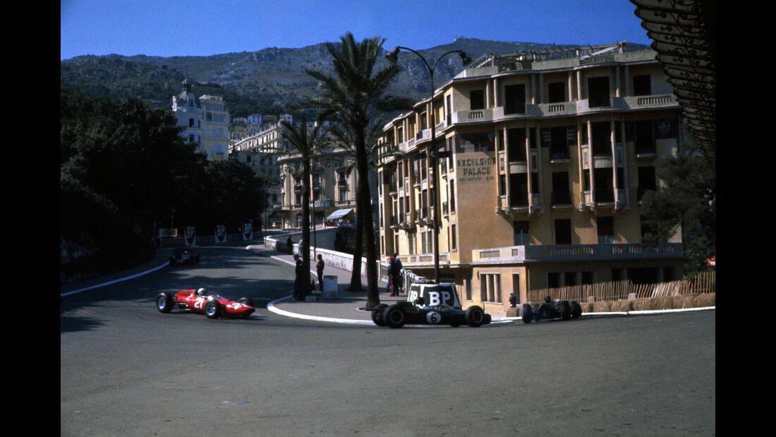 Dan Gurney - Brabham BT7 - John Surtees - Ferrari 156 - GP Monaco 1964