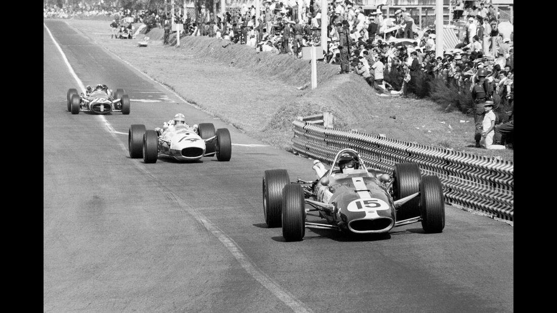 Dan Gurney - Eagle T1G - GP Mexiko 1966 - Ronnie Bucknum - Honda RA273 - Jo Siffert - Cooper T81