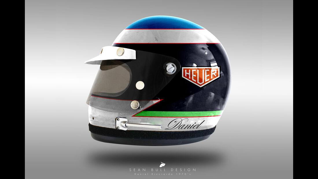 Daniel Ricciardo - Formel 1 - Retro-Helme - Sean Bull - 2018