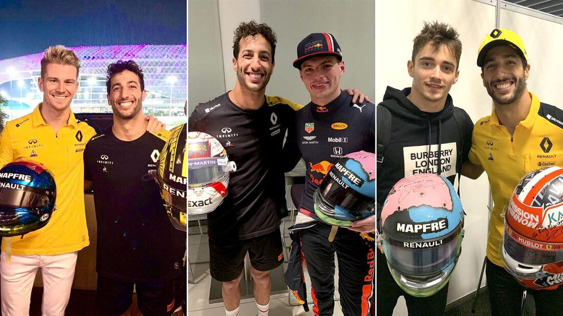 Daniel Ricciardo - GP Abu Dhabi - Helmtausch 2019