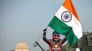Daniel Ricciardo Indien Showrun Red Bull 2011