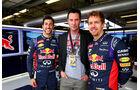 Daniel Ricciardo - Keanu Reeves - Sebastian Vettel - Formel 1 - GP USA - 1. November 2014