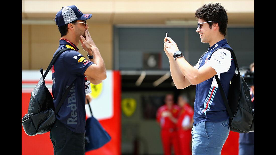 Daniel Ricciardo & Lance Stroll - Formel 1 - GP Bahrain - Training - 6. April 2018
