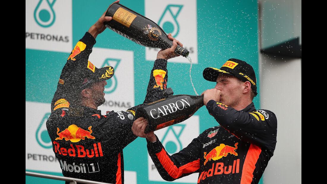 Daniel Ricciardo & Max Verstappen - GP Malaysia 2017