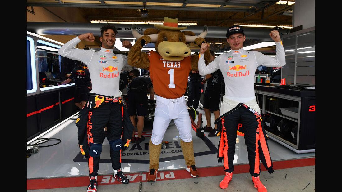 Daniel Ricciardo - Max Verstappen - Red Bull - GP USA - Austin - Formel 1 - Freitag - 20.10.2017