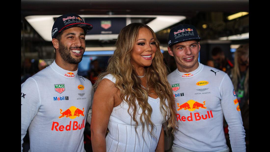 Daniel Ricciardo - Max Verstappen - Red Bull - Mariah Carey - GP Aserbaidschan 2017