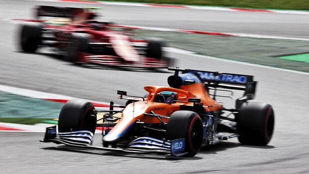 Daniel Ricciardo - McLaren - Formel 1 - GP Spanien 2021 - Barcelona - Rennen