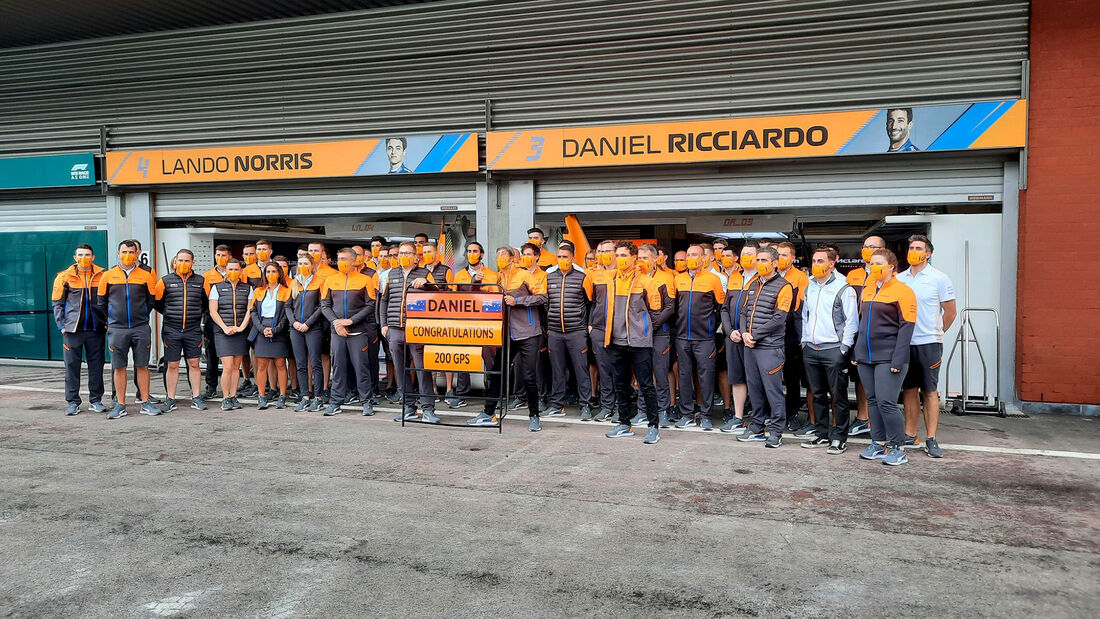Daniel Ricciardo - McLaren - GP Belgien - Spa-Francorchamps - 26. August 2021