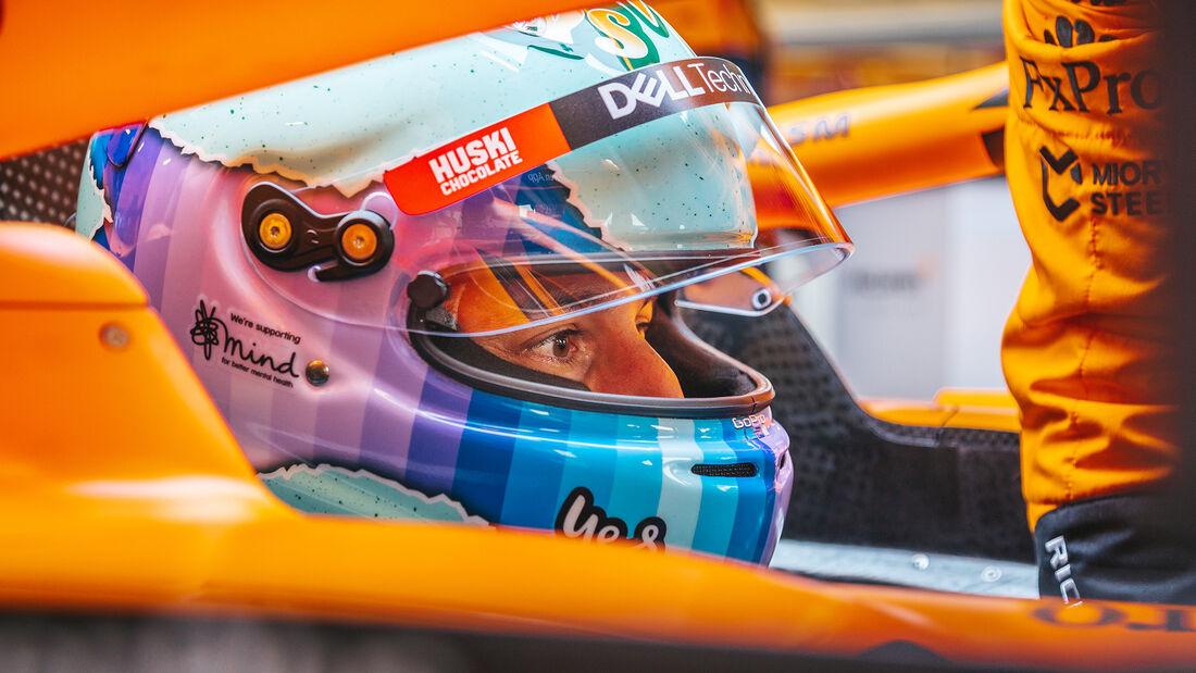Daniel Ricciardo - McLaren MCL35M - Shakedown - Silverstone - 2021
