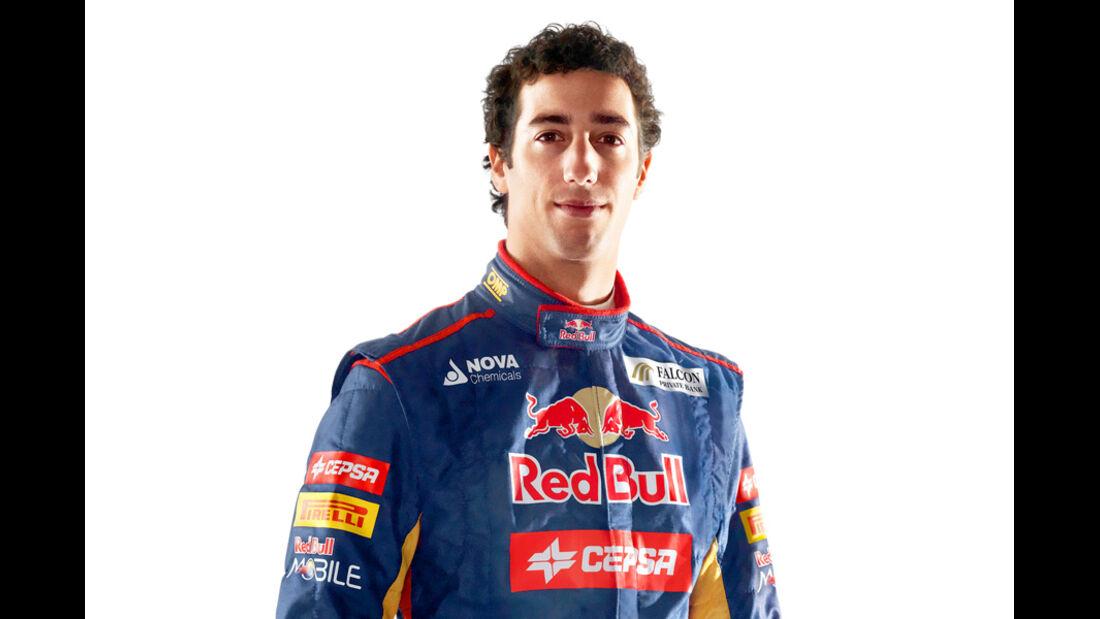 Daniel Ricciardo Porträt 2012
