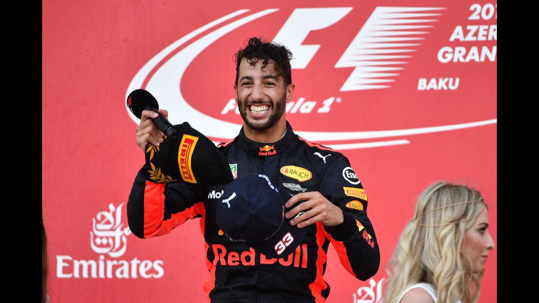 Daniel Ricciardo - Red Bull - GP Aserbaidschan 2017 - Baku - Rennen