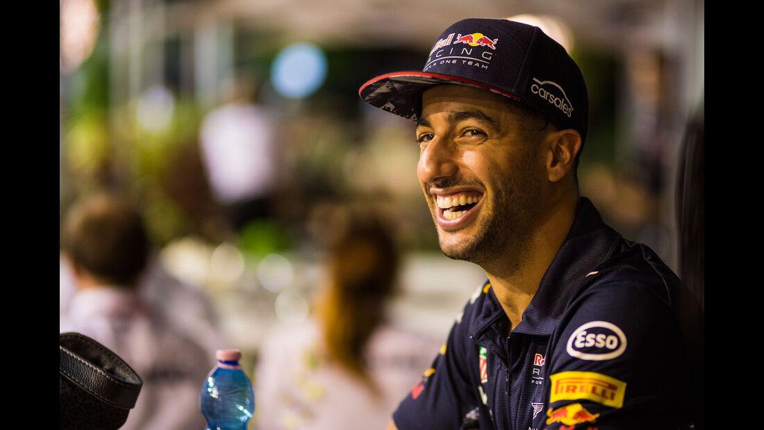 Daniel Ricciardo - Red Bull - GP Singapur - Formel 1 - Donnerstag - 14.9.2017