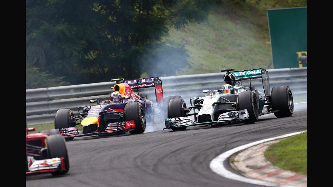 Daniel Ricciardo - Red Bull - Lewis Hamilton - Mercedes - Formel 1 - GP Ungarn - 27. Juli 2014
