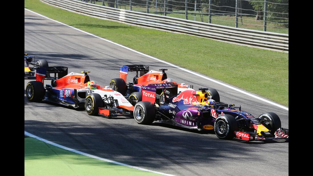 Daniel Ricciardo - Red Bull - Roberto Merhi - Will Stevens - Manor F1 - GP Italien 2015 - Monza