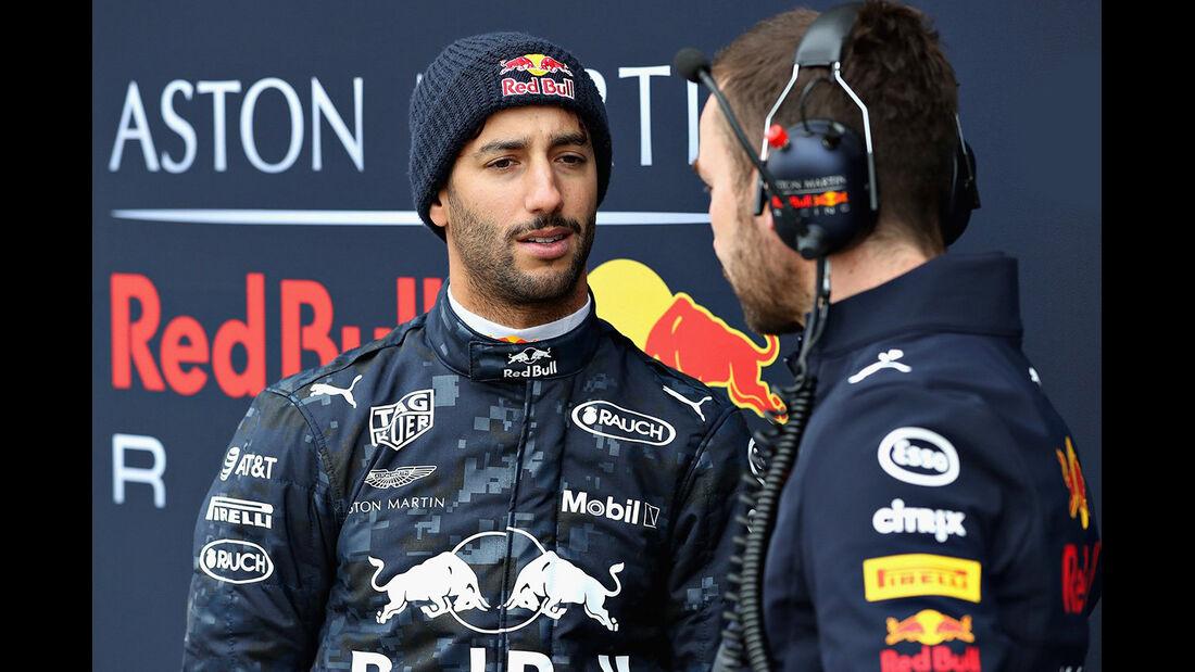 Daniel Ricciardo - Red Bull - Shakedown - Silverstone 2018