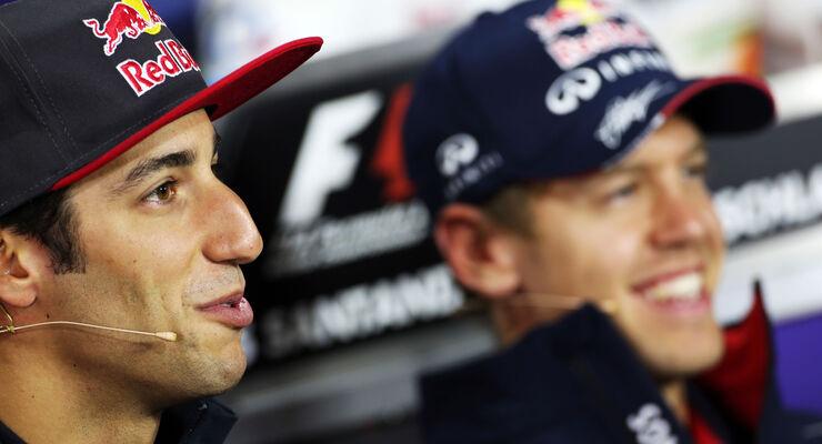 Daniel Ricciardo Sebastian Vettel 2013
