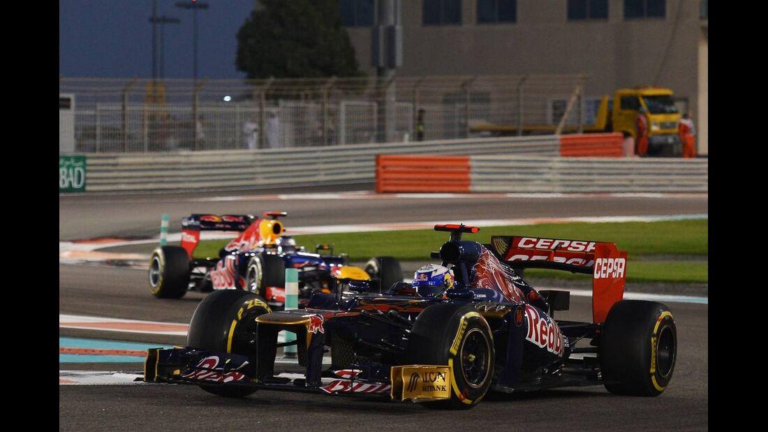Daniel Ricciardo Sebastian Vettel  - Formel 1 - GP Abu Dhabi - 04. November 2012