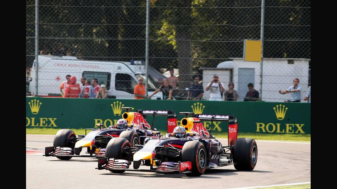 Daniel Ricciardo - Sebastian Vettel - Red Bull - Formel 1 - GP Italien - 7. September 2014