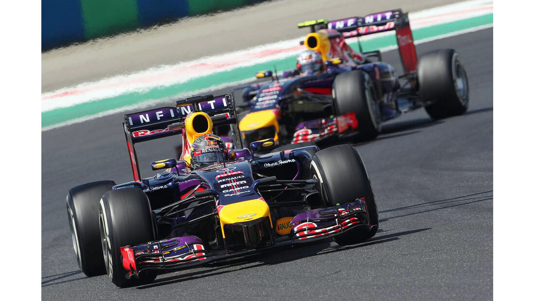 Daniel Ricciardo - Sebastian Vettel - Red Bull - Formel 1 - GP Ungarn - 25. Juli 2014