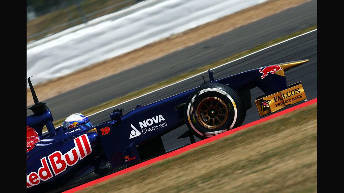 Daniel Ricciardo - Toro Rosso - Formel 1 - Young Driver Test - Silverstone - 18. Juli 2013