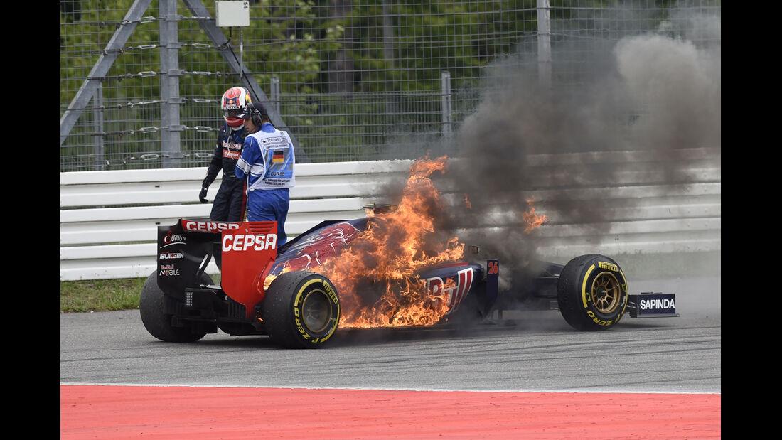 Daniil Kvyat - GP Deutschland - Crashs 2014