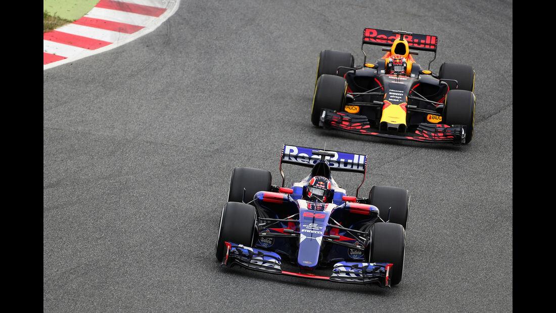 Daniil Kvyat & Max Verstappen - Toro Rosso & Red Bull - Formel 1-Test - Barcelona - 28. Februar 2017