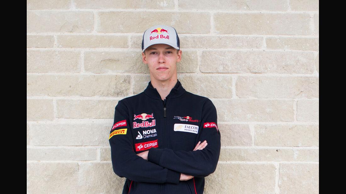 Daniil Kvyat Porträt - Toro Rosso