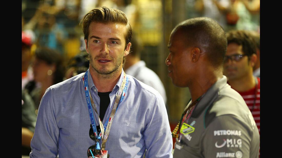 David Beckham - GP Singapur 2013
