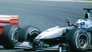 David Coulthard Stinkefinger GP Frankreich 2000