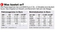 Dekra-Report 2013, Fahrzeugpreise, Betriebskosten