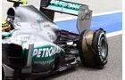 Delaminierung Lewis Hamilton GP Bahrain 2013