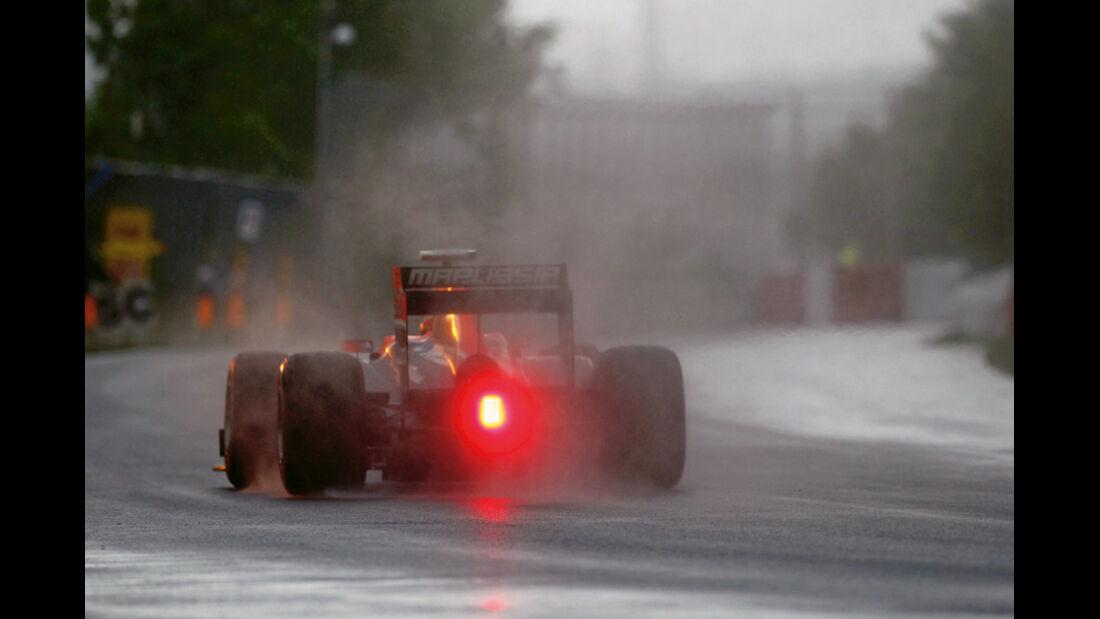 Der GP Kanada war das erste Regenrennen des Jahres