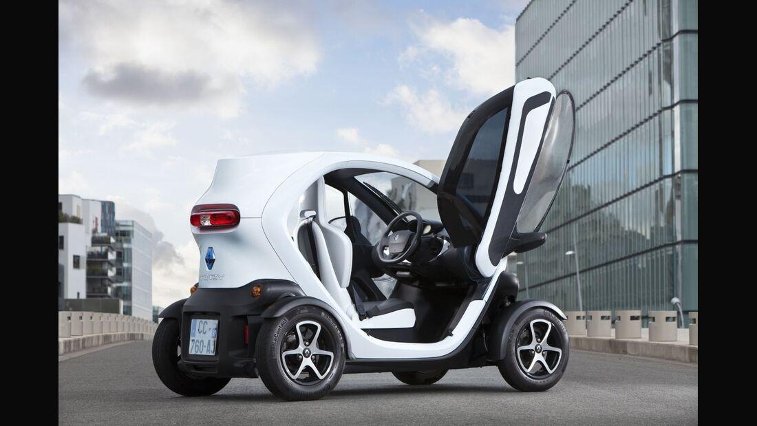 Der Renault Twizy soll noch 2014 im Rahmen von Carsharing angeboten werden.