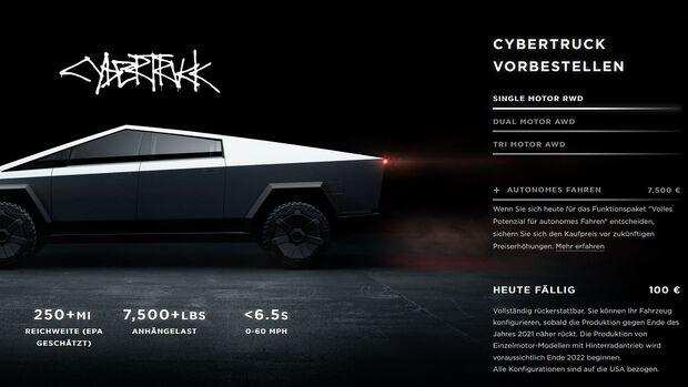 Der Tesla Cybertruck ist in Deutschland bestellbar.