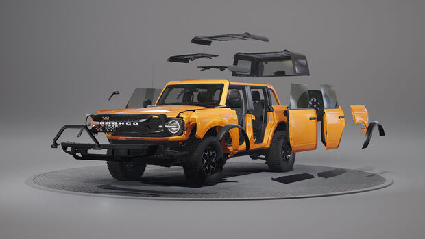 Der modulare Aufbau des Ford Bronco.