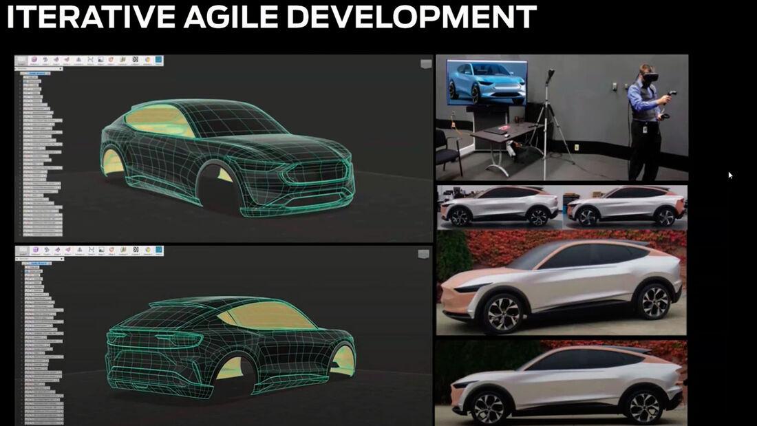 Design-Entwürfe Mustang Mach-E