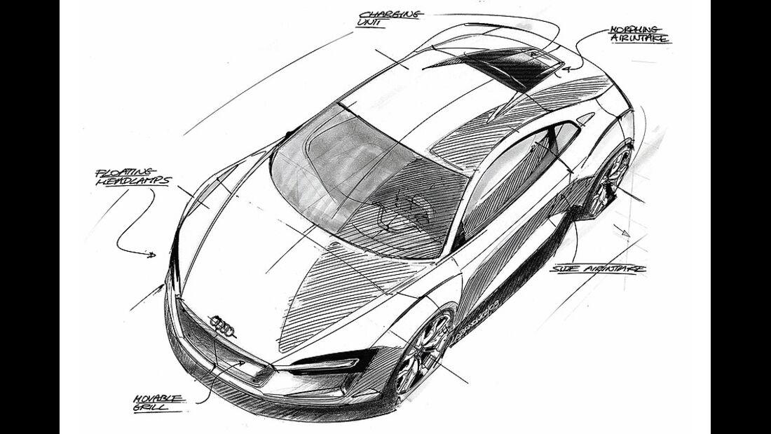 Designskizzen Audi E-Tron