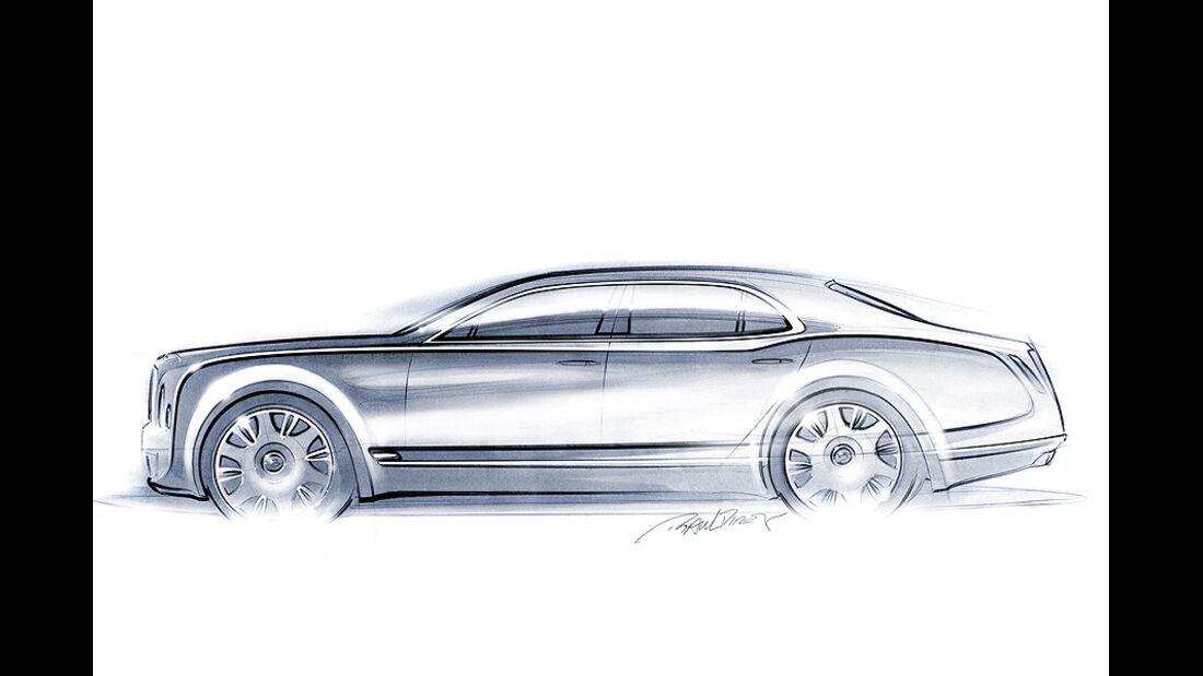 Designskizzen Bentley Continental