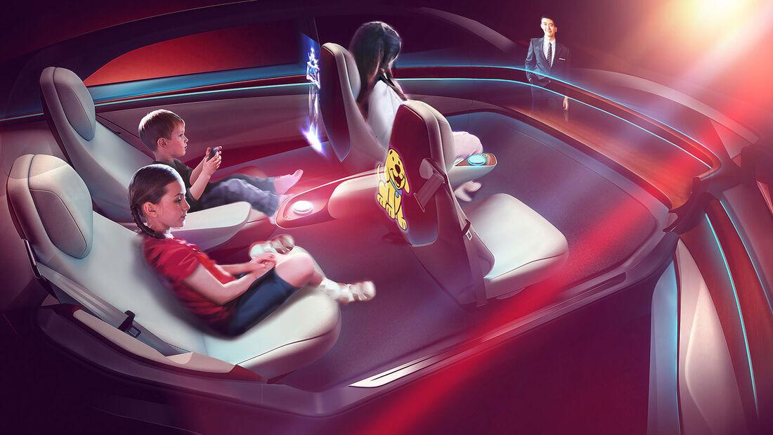 Designstudie autonomes Auto innen