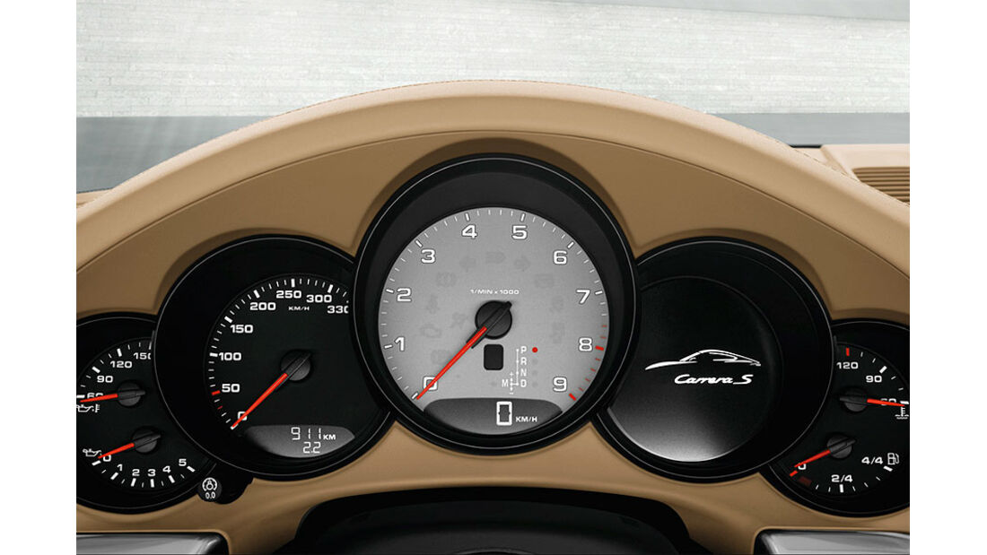 Detail, Cockpit, Instrumente, Porsche 911 Carrera 991