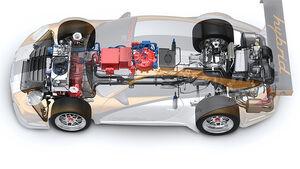 Detail, Technik, Porsche 911 GT3 R Hybrid
