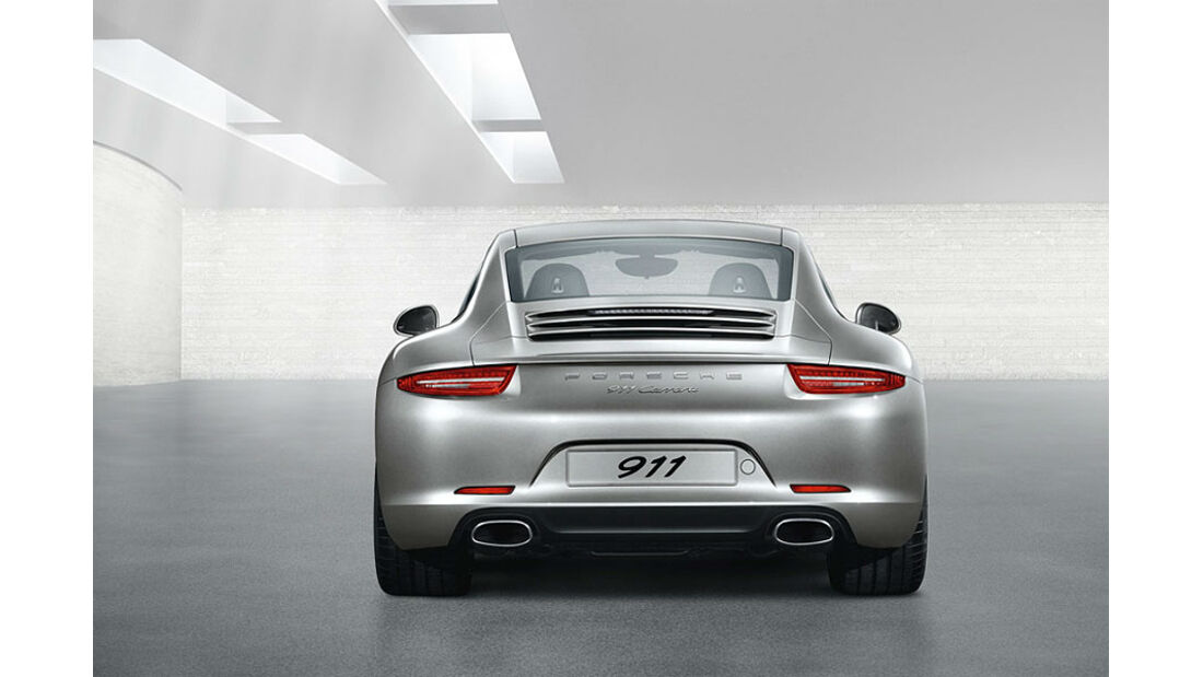 Detail, auspuff, Porsche 911 Carrera 991